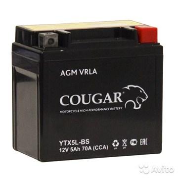 Мото аккумулятор Cougar AGM VRLA YTX5L-BS