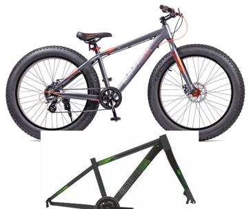 """Велосипед BLACK AQUA Fat 26"""" серо-зеленый (2018)"""