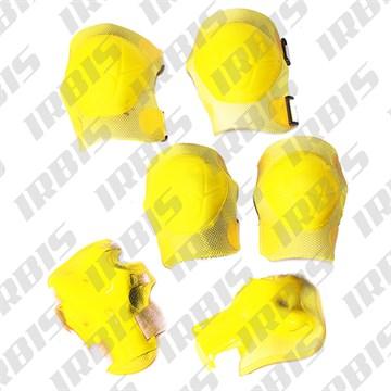 Защита велосипедная локтей, коленей, ладоней ТИП3, детская, пластик, желтый