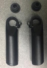 Рога на руль алюминиевые, анатомические, D22,2 мм, 115 мм, цв. черный